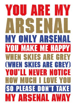 395 Arsenal FC songs, Arsenal football chants lyrics for AFC