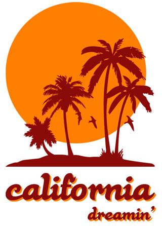 California Dreamin Womens T Shirt Magik City Cool T