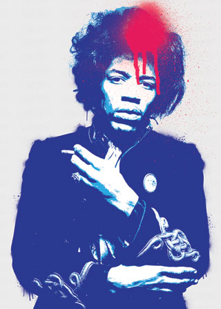 Jimi Hendrix Pop Art Poster Magik City Cool T Shirts