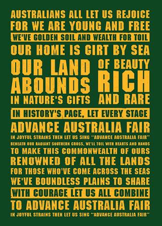 NATIONAL ANTHEM - ADVANCE AUSTRALIA FAIR LYRICS