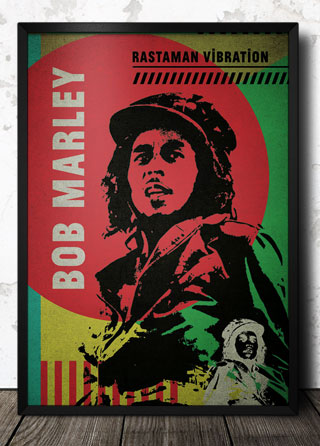 Bob Marley Reggae Poster 320 Framed