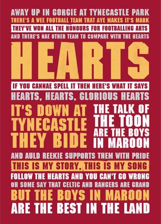 Heart of Midlothian Football Lyrics Song Poster | Magik City