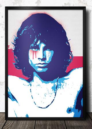 Jim Morrison Pop Art Poster 320 Framed