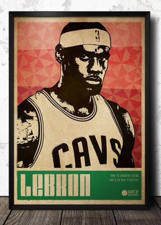 LeBron James Basketball Sports Art Poster   Magik City - Cool T ...