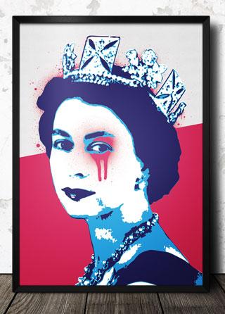 Queen Elizabeth Pop Art Poster Magik City Cool T Shirts
