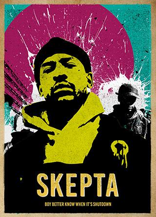 retro effect rapper #2 Skepta Poster British grime MC A3 420mm x297mm