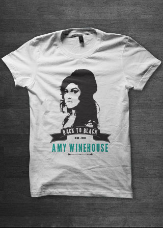Amy Winehouse Womens T Shirt Magik City Cool T Shirts