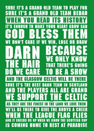 Celtic Football Lyrics Poster Magik City Cool T Shirts