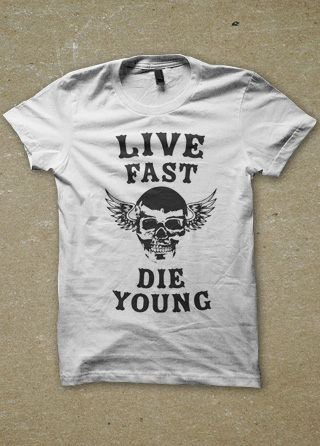 New Live Fast Die Young Mens T Shirt | Magik City - Cool T Shirts  FL56