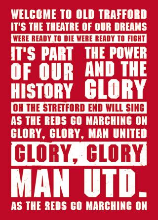 Glory manchester united lyrics