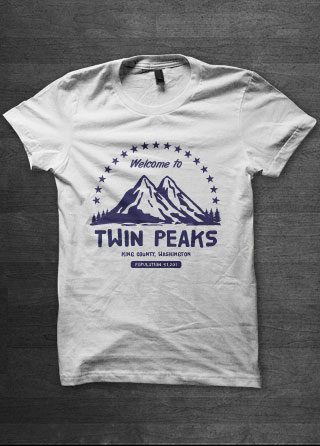 Twin Peaks Welcome Mens T Shirt Magik City Cool T