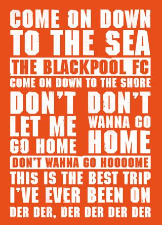 Blackpool Football Lyrics Poster Magik City Cool T