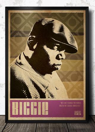 Biggie Smalls Hip Hop Pop Art Poster Magik City Cool T