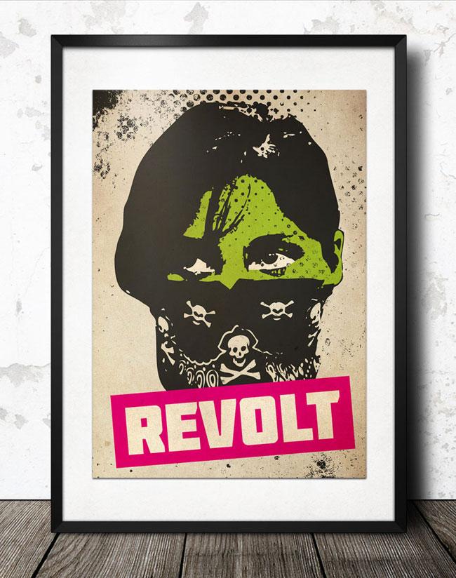 riot_girl_poster_vintage__framed_650